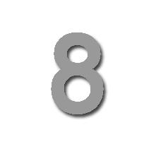 Number 8 50mm