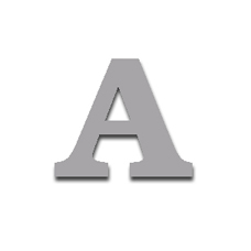 Letter A 120mm Serif