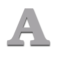 Letter A 150mm Serif