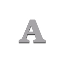 Letter A 90mm Serif