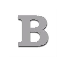 Letter B 120mm Serif