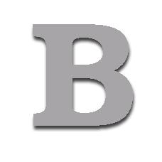Letter B 150mm Serif