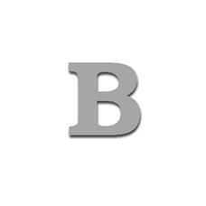 Letter B 90mm Serif