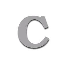 Letter C 120mm Serif