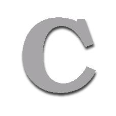 Letter C 150mm Serif