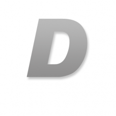 Letter D 90mm