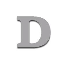 Letter D 120mm Serif