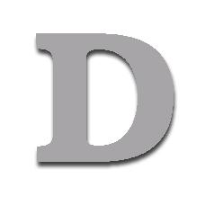 Letter D 150mm Serif