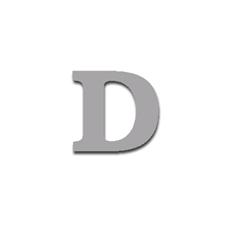 Letter D 90mm Serif