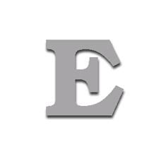 Letter E 120mm Serif