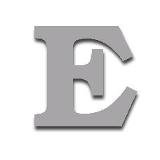 Letter E 150mm Serif