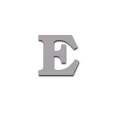 Letter E 90mm Serif
