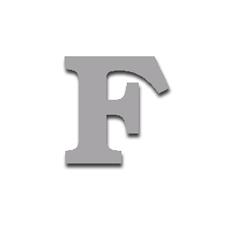 Letter F 120mm Serif