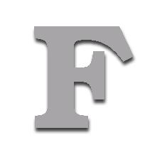 Letter F 150mm Serif