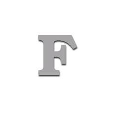 Letter F 90mm Serif
