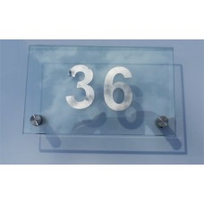 Glass Plaque House Sign Small