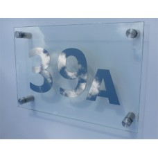 Glass Plaque House Sign Large