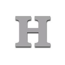 Letter H 120mm Serif