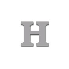 Letter H 90mm Serif