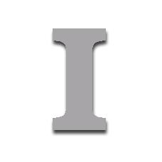 Letter I 150mm Serif