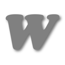 Letter W 150mm