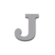 Letter J 120mm Serif