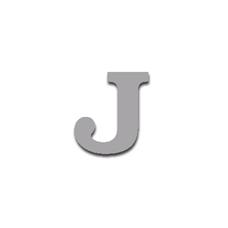 Letter J 90mm Serif
