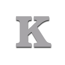 Letter K 120mm Serif
