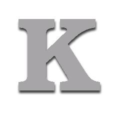 Letter K 150mm Serif