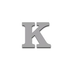 Letter K 90mm Serif
