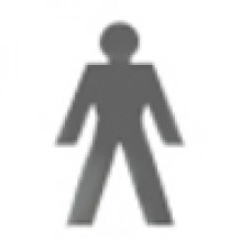 Toilet Door Sign - Man (Large)