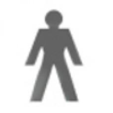 Toilet Door Sign - Man (Large)