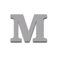 Letter M 120mm Serif