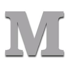 Letter M 150mm Serif