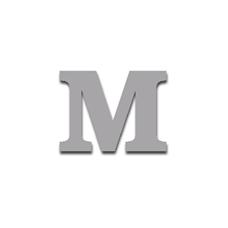 Letter M 90mm Serif