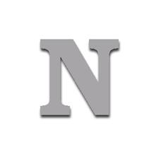 Letter N 120mm Serif