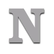 Letter N 150mm Serif