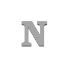 Letter N 90mm Serif