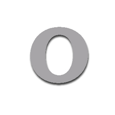 Letter O 120mm Serif
