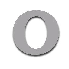 Letter O 150mm Serif
