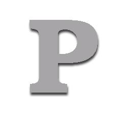 Letter P 150mm Serif