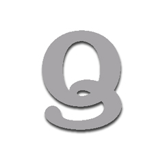 Letter Q 120mm Serif