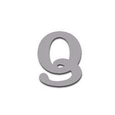 Letter Q 90mm Serif