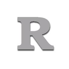 Letter R 120mm Serif