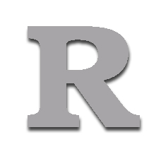 Letter R 150mm Serif