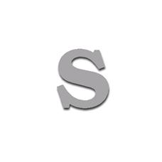 Letter S 90mm Serif
