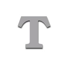 Letter T 120mm Serif