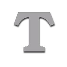 Letter T 150mm Serif