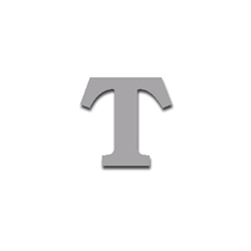 Letter T 90mm Serif