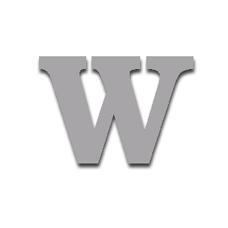 Letter W 120mm Serif
